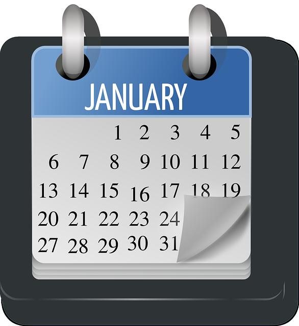 January on Calendar